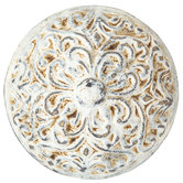 Round Distressed Cream Scroll Knob